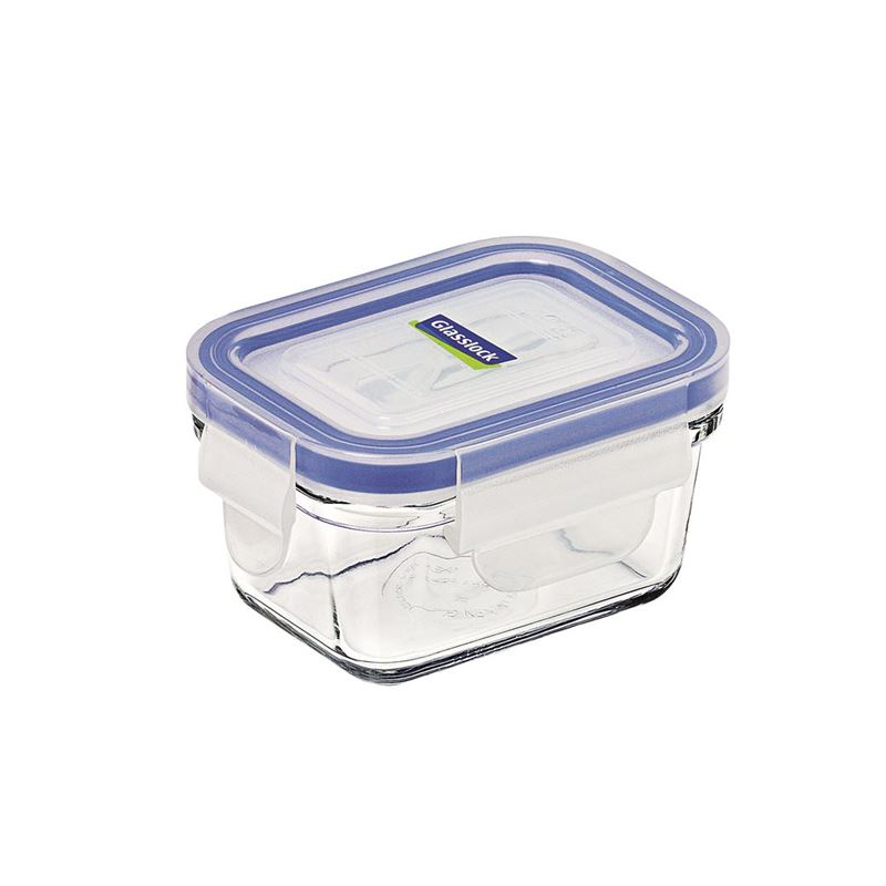 Glasslock – Rectangular Tempered Glass Food Container 180ml
