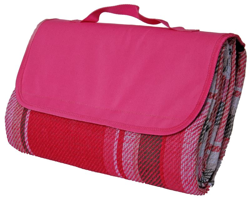 Benzer – Forest Check Picnic Rug 130x150cm – Pink