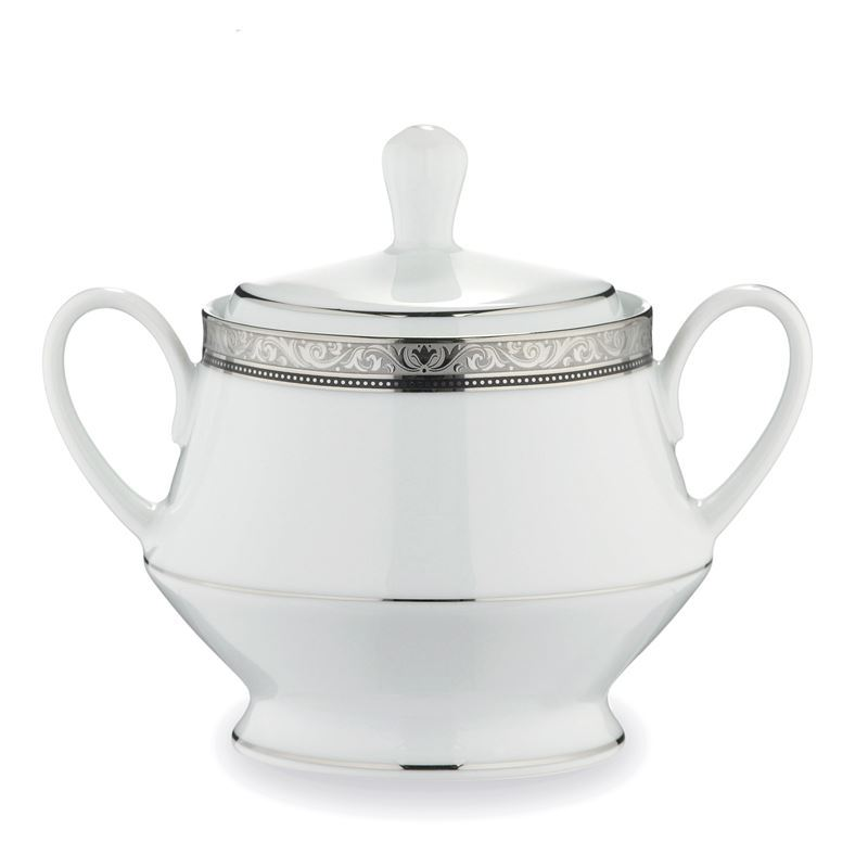 Noritake – Regent Platinum Covered Sugar Bowl 265ml
