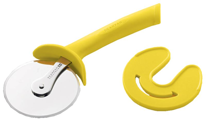 Scanpan – Spectrum Soft Touch Coloured Handle Pizza Cutter Yellow