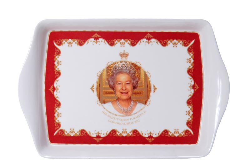 Royal Crest – Her Majesty Queen Elizabeth II Diamond Jubilee Scatter Tray 16x12cm