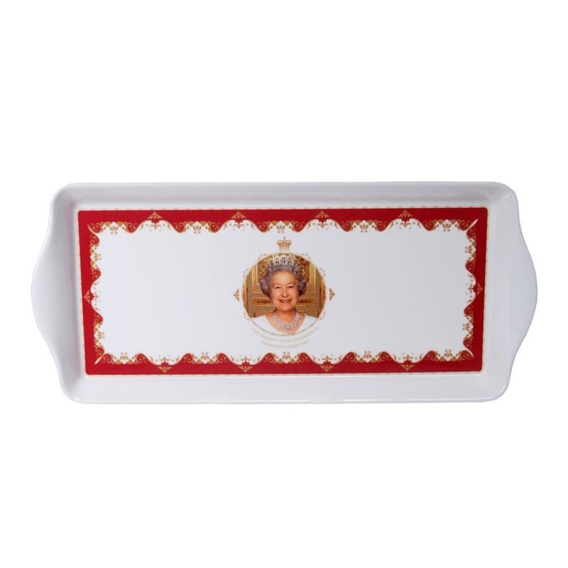 Royal Crest – Her Majesty Queen Elizabeth II Diamond Jubilee Sandwich Tray 39x17cm