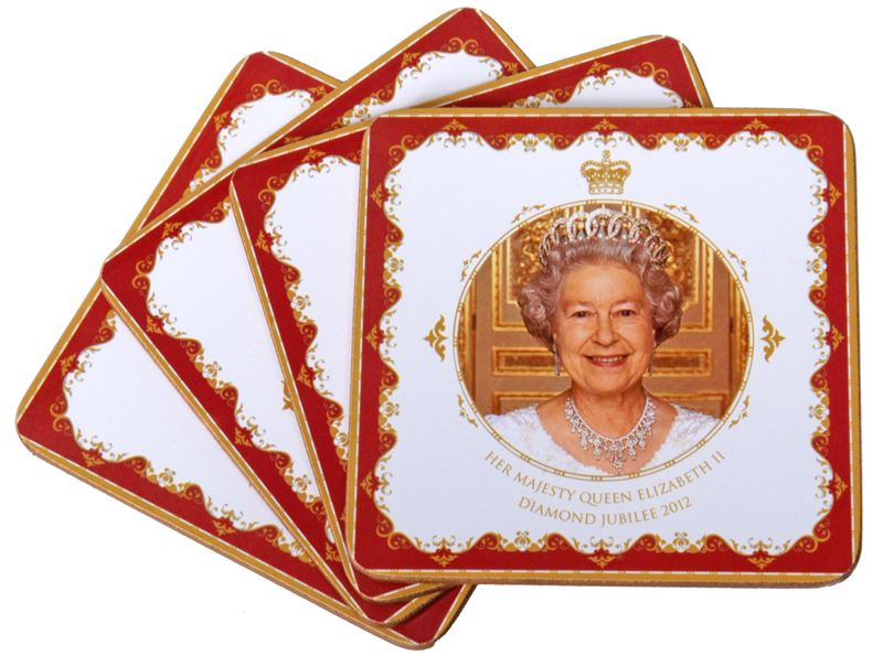 Royal Crest – Her Majesty Queen Elizabeth II Diamond Jubilee Set of 4 Coasters