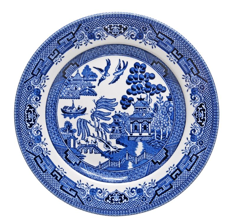 Churchill – Blue Willow Entree Plate 20cm (Made in England)