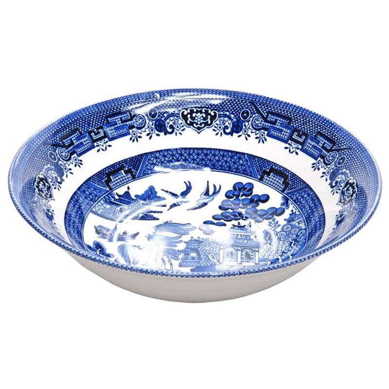 Churchill – Blue Willow Salad Bowl 24cm (Made in England)