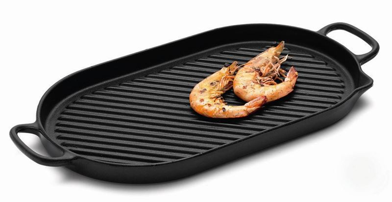Chasseur Cast Iron – Midnite OnyxStove Top Grill 42x20cm (Made in France)