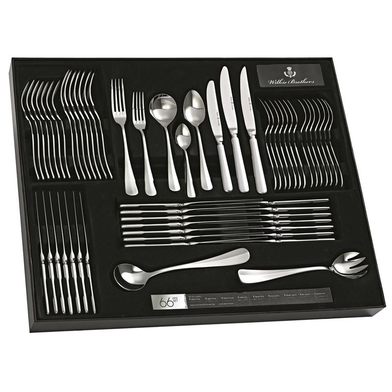 Wilkie Brothers – Ravelstone 18/10 Stainless Steel 66pc Cutlery Set