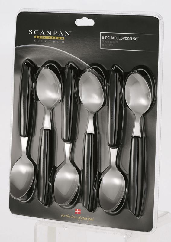Scanpan – Soft Touch Spectrum Spoons set of 6 Black