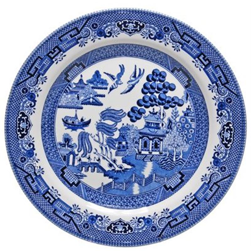 Blue Willow By Queens Churchill – Dinner Plate 26cm (Made in England)