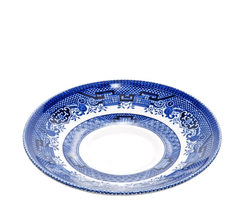 Queens by Churchill – Blue Willow Tea Saucer 14cm (Made in England)