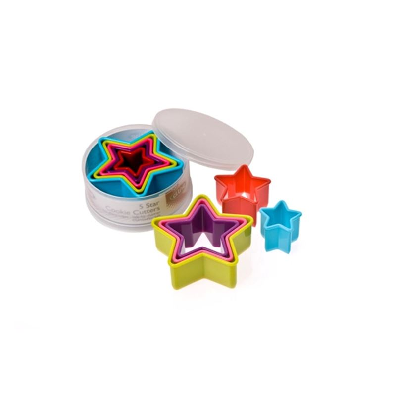 D-Line – Cookie Cutter Multi Coloured Star Set of 5 in Case