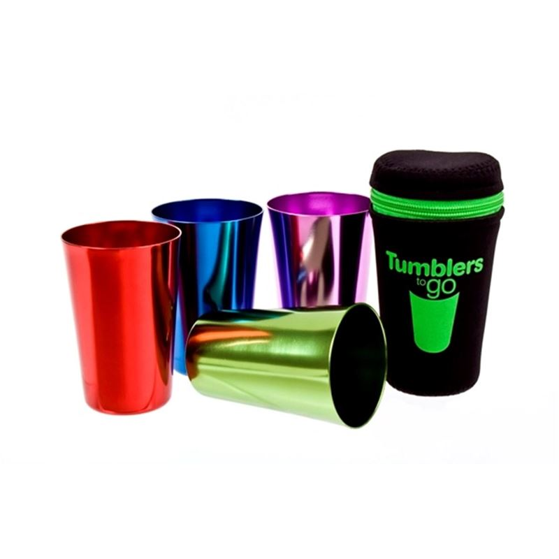 D-Line – Go Anodised Tumblers to Go 265ml set of 4