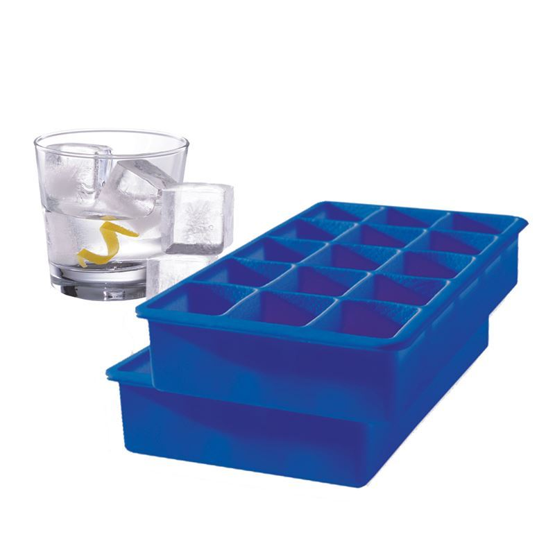 Tovolo – Perfect Cube Ice Tray Set of 2 Blue