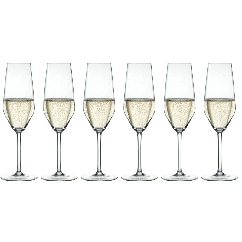 Zuhause – Style Champagne Flute 240ml Set of 6 (Made in Germany)