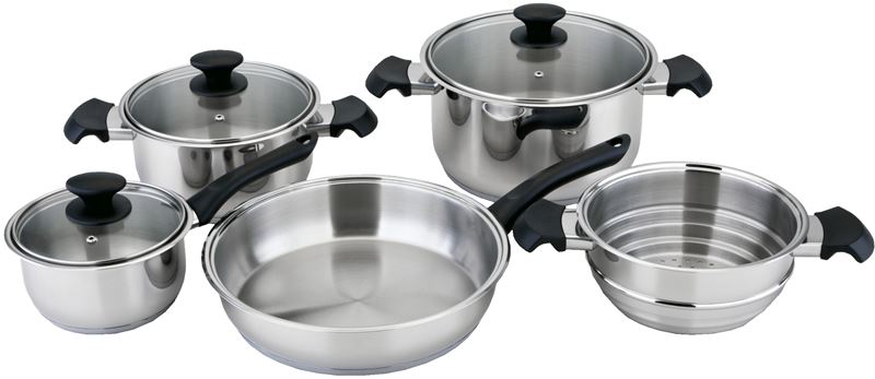 Benzer – Rosti 5 Piece Cookware Set 18/10 Stainless Steel