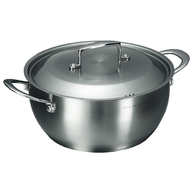 Scanpan – Satin Stewpot with Lid 28cm 6Ltr