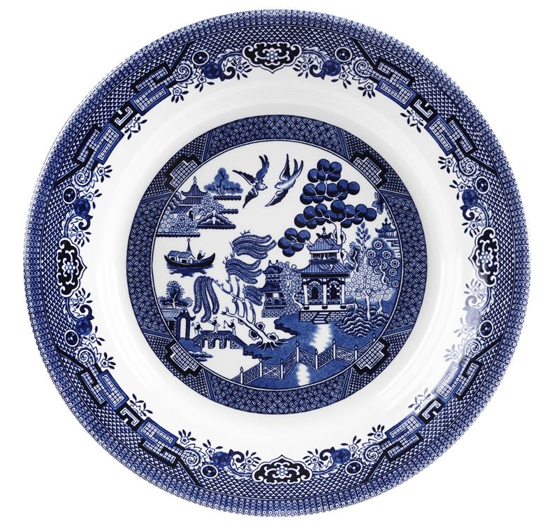 Churchill – Blue Willow Serving/Charger Plate 28.5cm (Made in England)