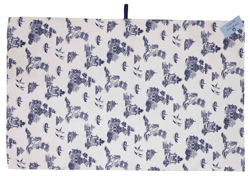 Churchill – Blue Willow Tea Towel 71x45cm (Made in England)