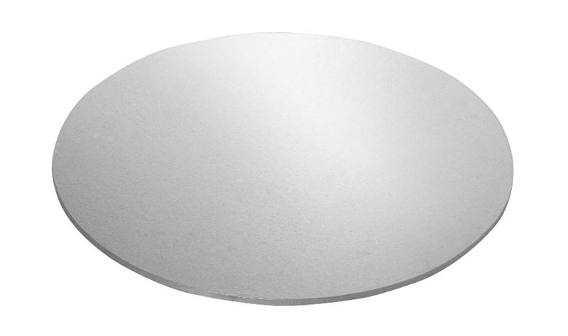 Mondo – Cake Board Round Silver Foiled Masonite 10″/25cm