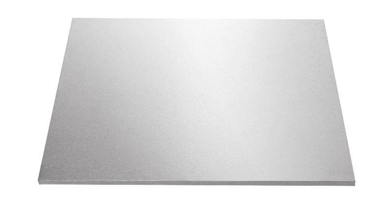 Mondo – Cake Board Square Silver Foiled Masonite 10″/25cm
