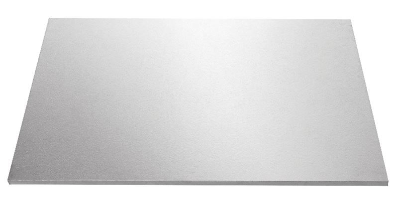 Mondo – Cake Board Rectangular Silver Foiled Masonite 12×8″ 30x20cm