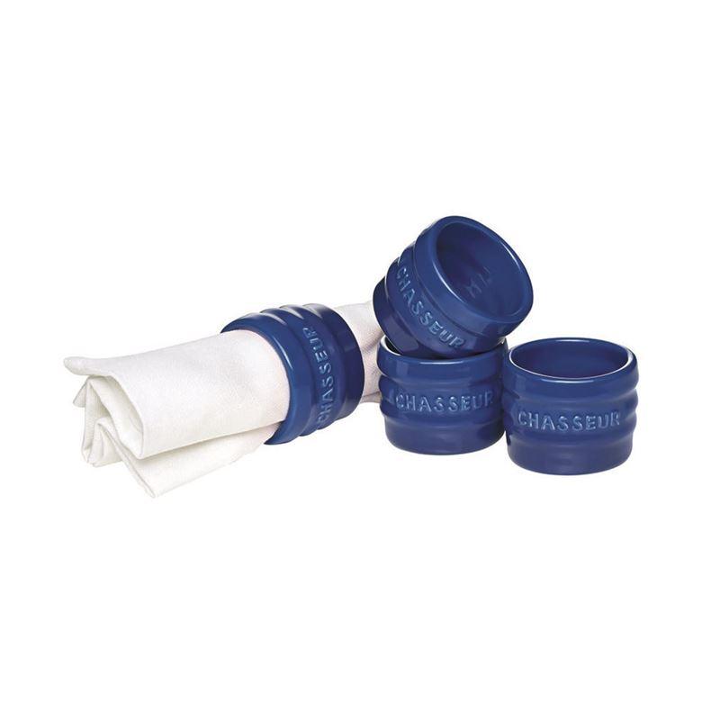 Chasseur – La Cuisson Napkin Rings set of 4 Blue