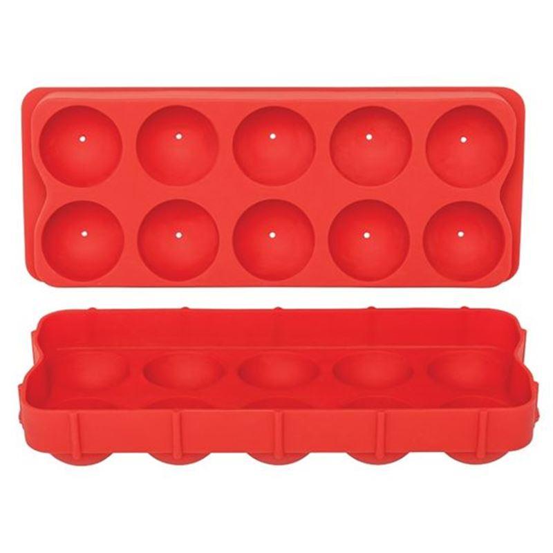 Appetito – Jumbo Round Ice Cube Tray Round Red