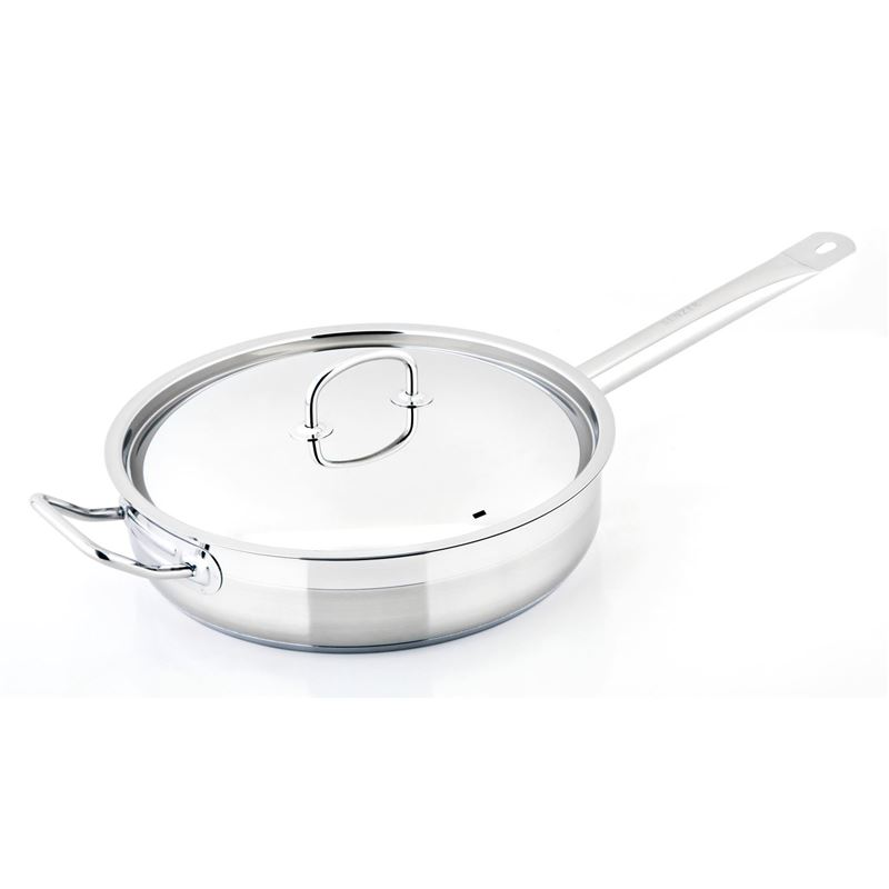 Benzer – Berlin Professional 18/10 Stainless Steel Covered Sauté Pan 28cm