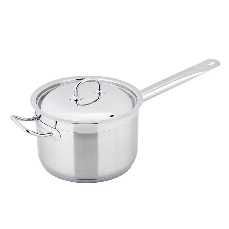 Benzer – Berlin Professional 18/10 Stainless Steel 20cm Covered Saucepan with Helper Handle 4Ltr