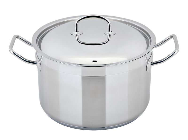 Benzer – Berlin Professional 18/10 Stainless Steel 20cm Covered Casserole 4Ltr