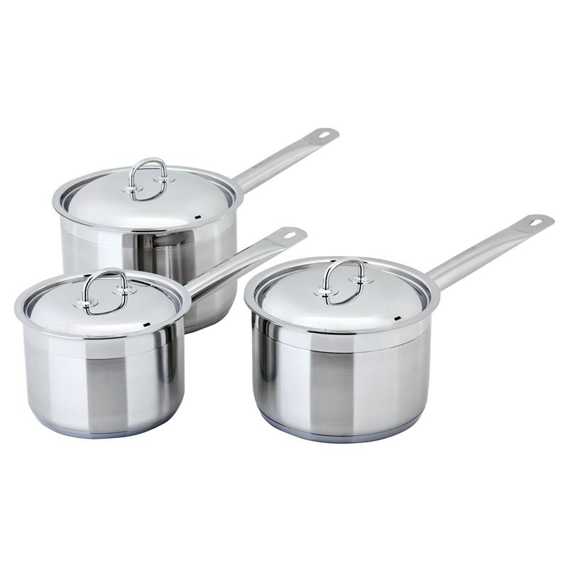 Benzer – Berlin Professional 18/10 Stainless 3pc Saucepan Set
