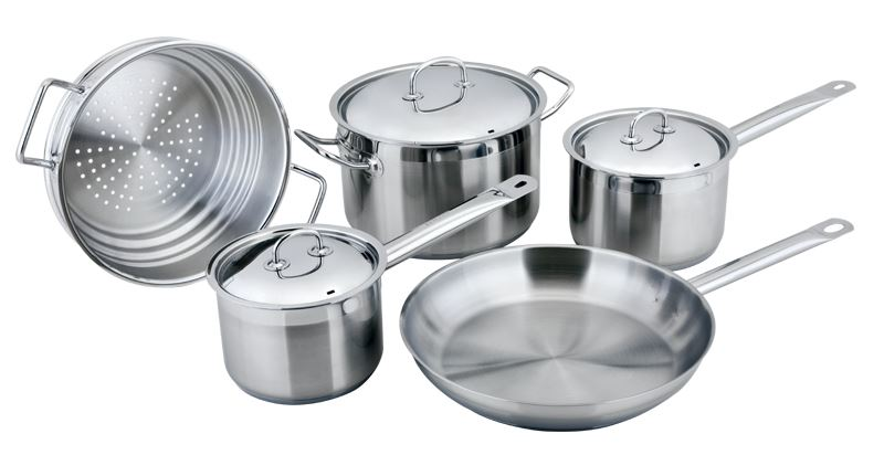 Benzer – Berlin Professional 18/10 Stainless 5pc Cookware Set