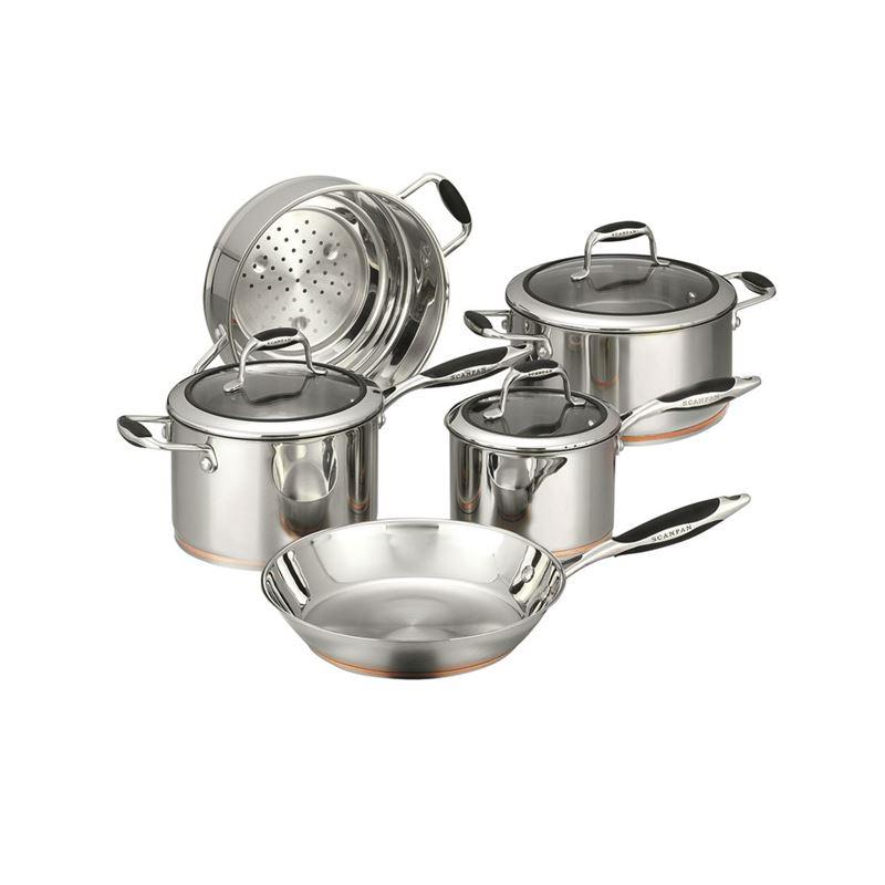 Scanpan Coppernox – Copper Based 5pc Cookware Set