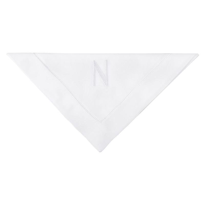 Dan Samuels – Oxford Hemstich Monogrammed Napkin 50x50cm N