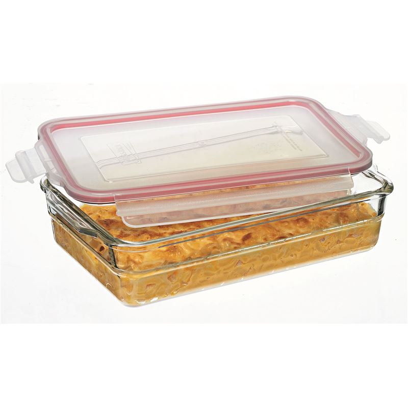 Glasslock – Tempered Glass OVEN SAFE Rectangular Baking Dish 2.2Ltr