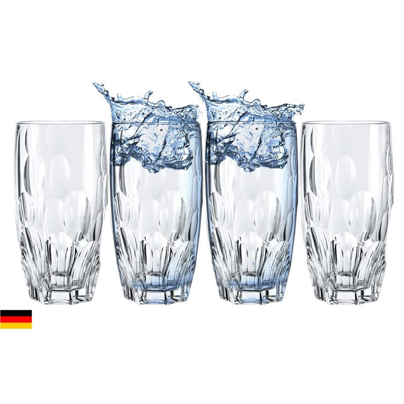 Nachtmann Crystal – Sphere Long Drink 385ml Premium set of 4 (Made in Germany)