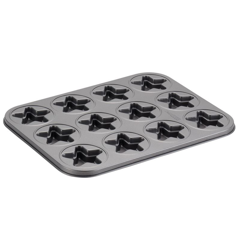 Cake Boss – Non-Stick 12 Cup Moulded Cookie Pan Star