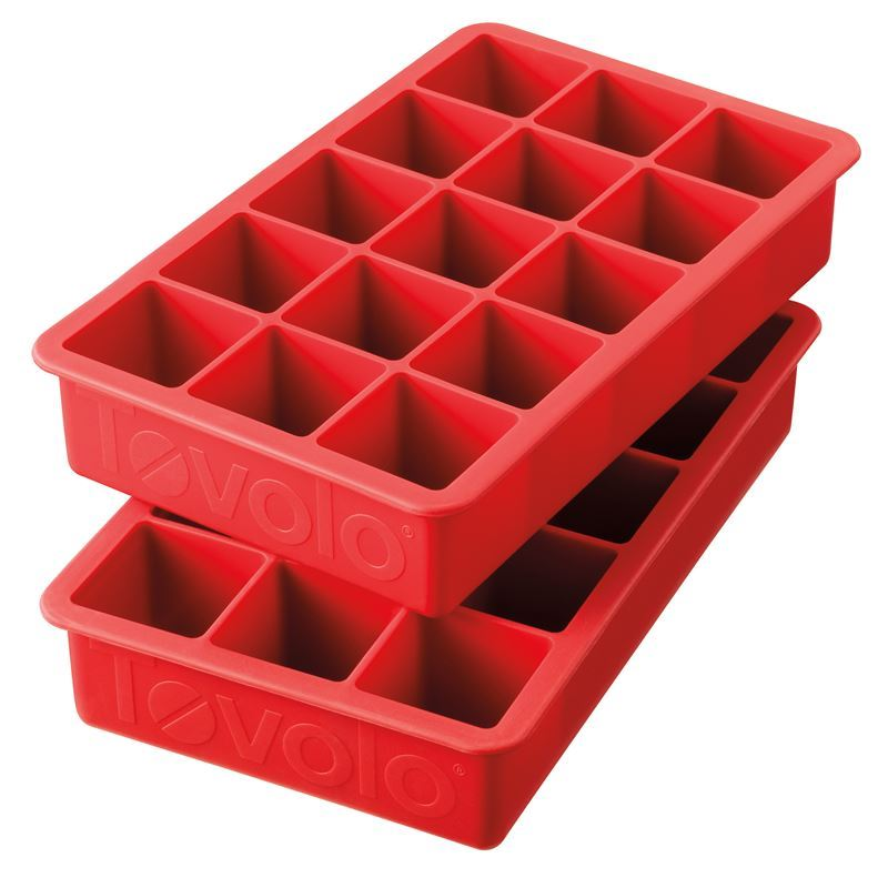 Tovolo – Perfect Cube Ice Tray set of 2 Red