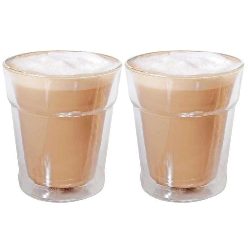 Zuhause – Okki Set of 2 Double Wall Thermo Latte Glasses 280ml