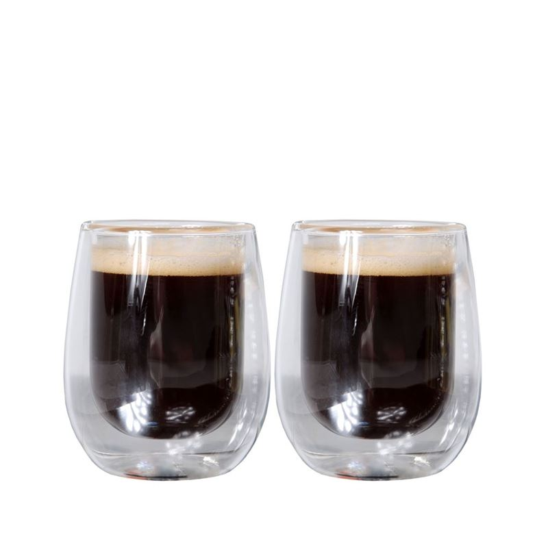 Zuhause – Uber Set of 2 Double Wall Thermo Espresso Glasses 80ml