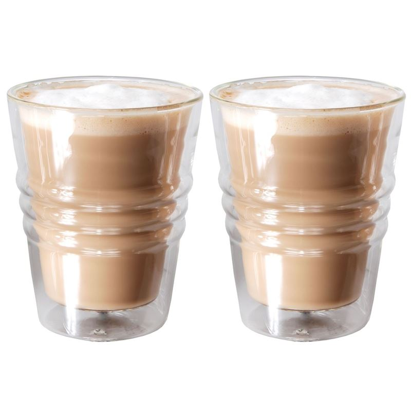 Zuhause – Kaffee Set of 2 Double Wall Thermo Latte Glasses 280ml