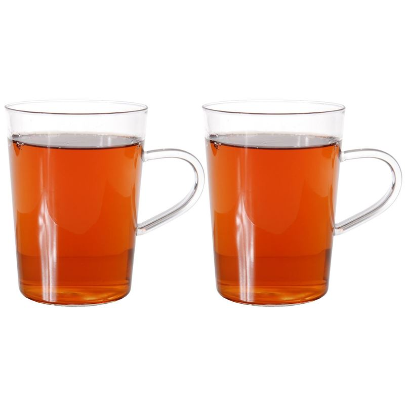 Zuhause – Nova Set of 2 Superior Fine Glass Tea Mugs 300ml