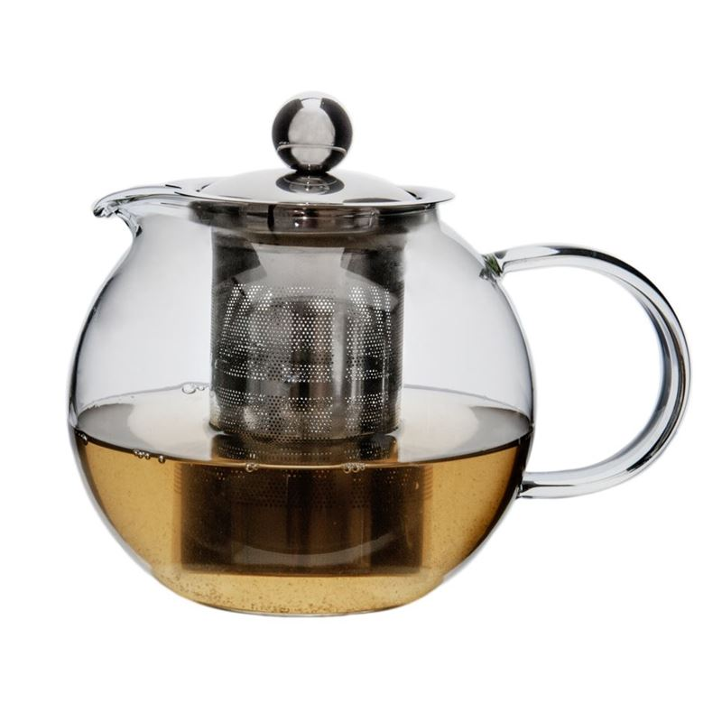Zuhause – Globus Glass Tea Pot with Stainless Steel Infuser 800ml