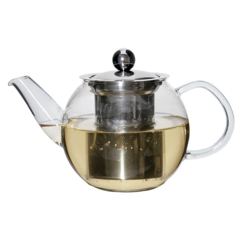 Zuhause – Oskar Glass Tea Pot with Stainless Steel Infuser 600ml