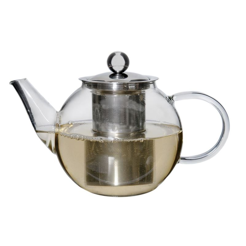 Zuhause – Oskar Glass Tea Pot with Stainless Steel Infuser 800ml