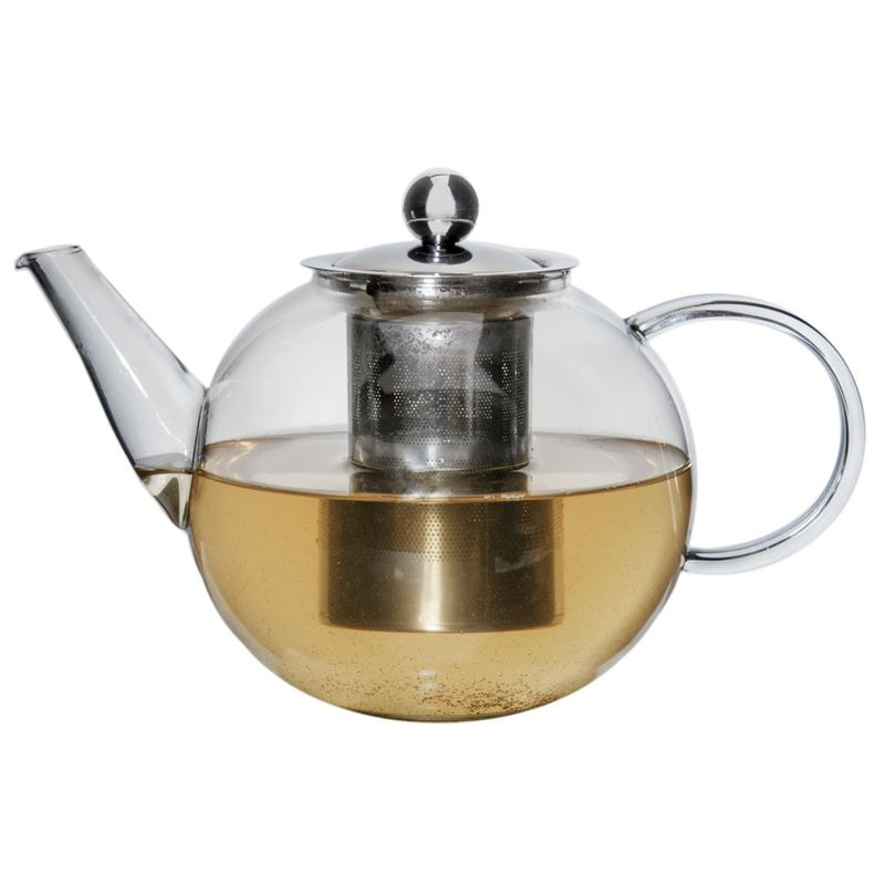 Zuhause – Oskar Glass Tea Pot with Stainless Steel Infuser 1.2Ltr