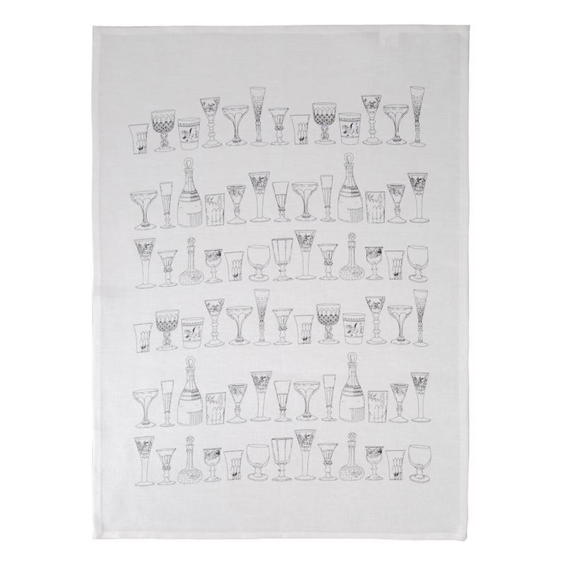 Dan Samuels – Vintage Glass 100% Linen Tea Towel 50x70cm
