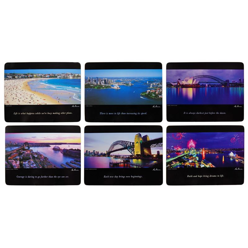 Cinnamon – Sydney Scenes by Ken Duncan Placemat 28.5×21.5cm Set of 6