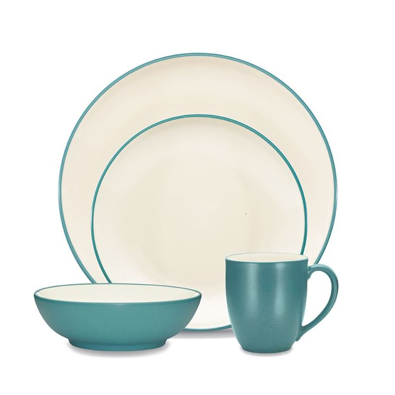 Noritake – ColourWave Turquoise 16pc Dinner Set