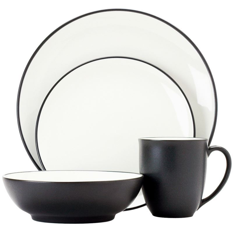 Noritake – ColourWave Graphite 16pc Dinner Set